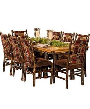 Furniture Barn USA Hickory Tressle Table Dining Set With 8 Fabric Back Dining Chairs R Bradley Fabric 0 300x360