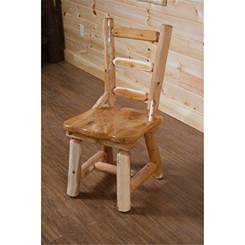 Furniture Barn USA Rustic White Cedar Log Dining Table 6 Chairs Set 0 3