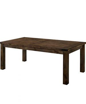 Furniture Of America Belton I Farmhouse Dining Table In Rustic Oak 0 300x360