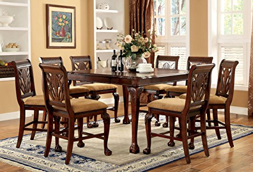 Furniture Of America Bonaventure 9 Piece Traditional Style Pub Dining Set 0 0