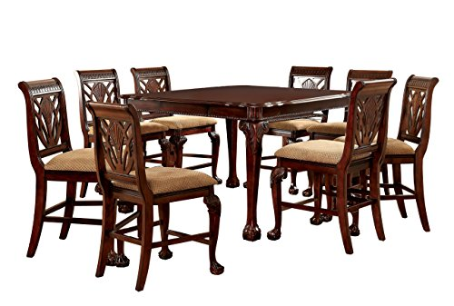 Furniture Of America Bonaventure 9 Piece Traditional Style Pub Dining Set 0