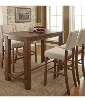 Furniture Of America Sinuata Farmhouse 5 Piece Brown Wood Pub Set 0 300x360