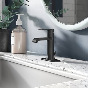 Genta+Single+Hole+Bathroom+Faucet+with+Drain+Assembly