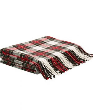 Glitzhome Throw Blanket For Couch Soft Cozy Throw Blanket For Bed Tartan Shawl With Tassels Plaid Throw Blanket For Sofa Reversible Wrap Scarf For Women Men 60 X 50 Inches 0 0 300x360