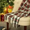 Glitzhome Throw Blanket For Couch Soft Cozy Throw Blanket For Bed Tartan Shawl With Tassels Plaid Throw Blanket For Sofa Reversible Wrap Scarf For Women Men 60 X 50 Inches 0 100x100