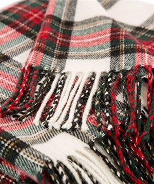 Glitzhome Throw Blanket For Couch Soft Cozy Throw Blanket For Bed Tartan Shawl With Tassels Plaid Throw Blanket For Sofa Reversible Wrap Scarf For Women Men 60 X 50 Inches 0 3 300x360