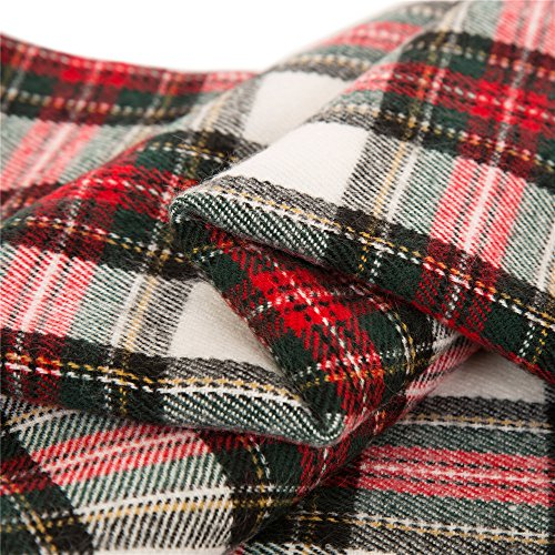 Glitzhome Throw Blanket For Couch Soft Cozy Throw Blanket For Bed Tartan Shawl With Tassels Plaid Throw Blanket For Sofa Reversible Wrap Scarf For Women Men 60 X 50 Inches 0 4