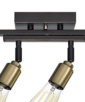 Globe Electric 59035 Bryce 4 Light Track Lighting Antique Brass Sockets Oil Rubbed Bronze Finish Bulbs Included 0 0 300x360
