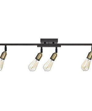 Globe Electric 59035 Bryce 4 Light Track Lighting Antique Brass Sockets Oil Rubbed Bronze Finish Bulbs Included 0 300x360