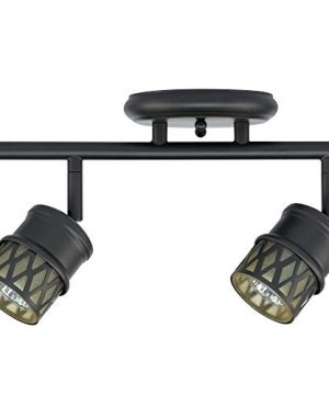 Globe Electric 59063 Norris 4 Light Track Lighting Bronze Oil Rubbed Finish Champagne Glass Track Heads Bulbs Included 0 0 300x360