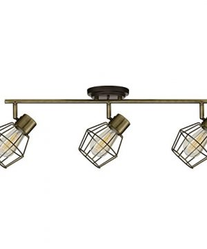 Globe Electric 59193 Jax 3 Light Track Lighting Antique Pewter Finish Bulbs Included 0 300x360
