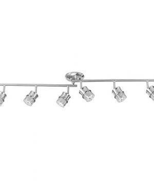Globe-Electric-59355-Kearney-6-Light-Foldable-Track-Lighting-Brushed-Nickel-Finish-White-Glass-Shades-Bulbs-Included-0