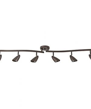Globe Electric 59376 Grayson 6 Light Adjustable S Shape Track Lighting Bronze Color Oil Rubbed Finish Bulbs Included 0 300x360