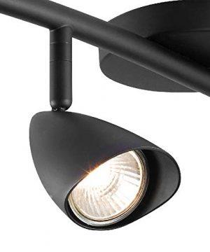 Globe Electric 59697 Grayson 4 S Shape Track Lighting Matte Black 0 300x360
