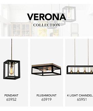 Globe Electric Verona 2 Light Flush Mount Dark Bronze Antique Brass Accents 5 Clear Glass Panes 65919 0 4 300x360