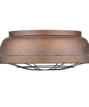 Golden Lighting 7312 FM CP Bartlett Flush Mount Damp Copper Patina 0 300x360