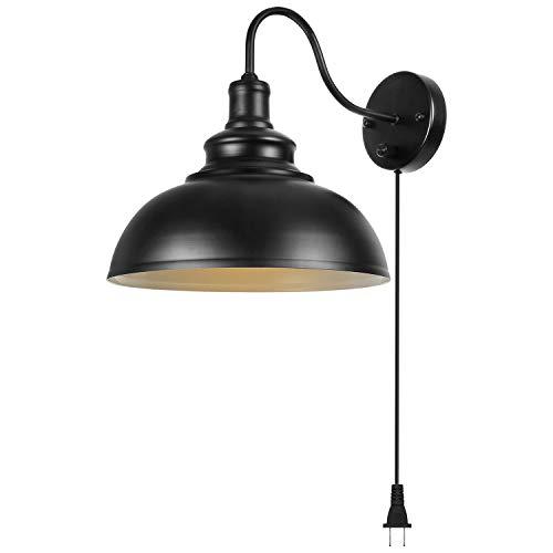 Gooseneck Wall Lamp Black