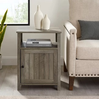Gray Wash Justice Nightstand