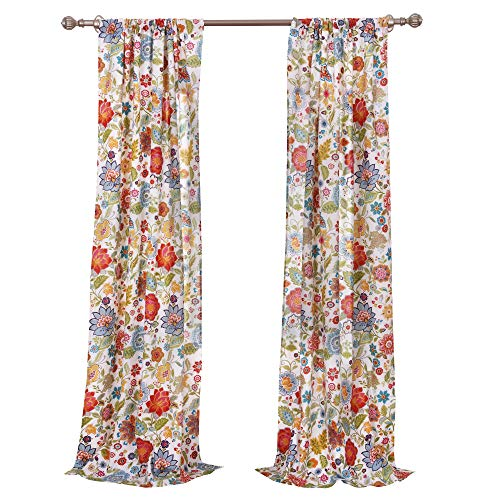 Greenland Home Astoria Curtain Panel Pair 95 Inch L White 0 2