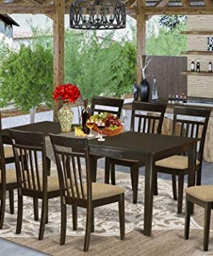 HECA9 CAP C 9 PC Dining Room Set Table With Leaf And 8 Dining Chairs 0 300x360