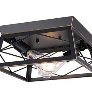 HMVPL Industrial Ceiling Lighting Fixtures Farmhouse Flush Mount Close To Ceiling Lamp 2 Light For Kitchen Island Dining Room Bedroom Foyer Hallway 0 300x360