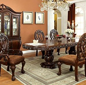 HOMES Inside Out Aragon 7 Piece Formal Dining Table Set Cherry 0 0 300x298