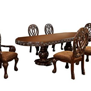 HOMES Inside Out Aragon 7 Piece Formal Dining Table Set Cherry 0 300x298