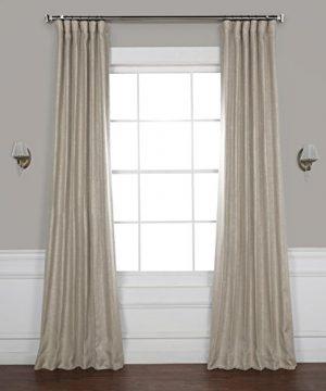 HPD HALF PRICE DRAPES BOCH LN1857 96 Faux Linen Blackout Room Darkening Curtains 50 X 96 Oatmeal 0 300x360