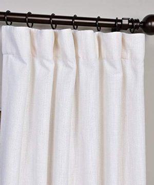 HPD Half Price Drapes FHLCH VET13191 108 Heavy Faux Linen Curtain 50 X 108 White 0 0 300x360