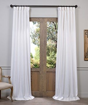 HPD Half Price Drapes FHLCH VET13191 108 Heavy Faux Linen Curtain 50 X 108 White 0 300x360