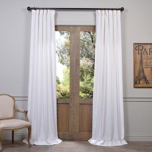 HPD Half Price Drapes FHLCH VET13191 108 Heavy Faux Linen Curtain 50 X 108 White 0