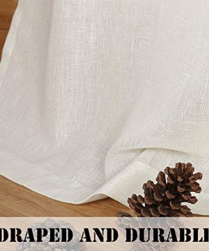 HVERSAILTEX Tab Top Natural Linen Blended Airy Curtains For Living Room Home Decor Soft Rich Material Light Reducing Bedroom Drape Panels Set Of 2 52 X 84 Inch Natural Pattern 0 5 300x360