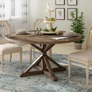 Havana Pine Solid Wood Dining Table