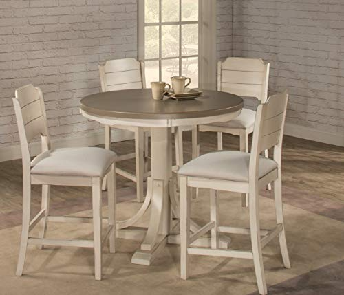 Hillsdale Furniture Counter Height Round Dining Table Distressed Gray Sea White Farmhouse Goals