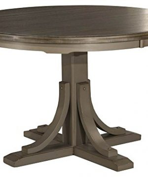 Hillsdale Furniture Hillsdale Clarion Distressed Gray Round Dining Table Multi Step Wirebrush 0 300x360