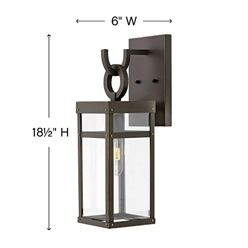 Hinkley 2800OZ Porter Outdoor Wall Sconce 1 Light 100 Watts Oil Rubbed Bronze 0 2