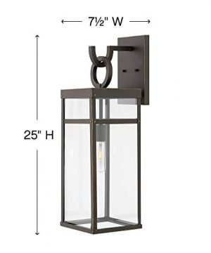 Hinkley 2805OZ Porter Outdoor Wall Sconce 1 Light 100 Watts Oil Rubbed Bronze 0 5 300x360