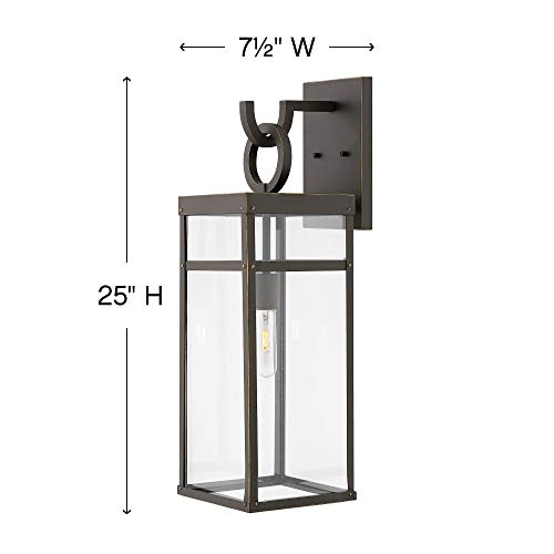 Hinkley 2805OZ Porter Outdoor Wall Sconce 1 Light 100 Watts Oil Rubbed Bronze 0 5