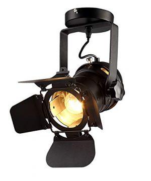 Hobaca E26 L31 W17 H35cm Loft Vintage Industrial Iron Mount Spotlight Track Lighting Ceiling Shop Light Fixtures LED Pendant Lights Ceiling Lights For Home Lighting 0 300x360