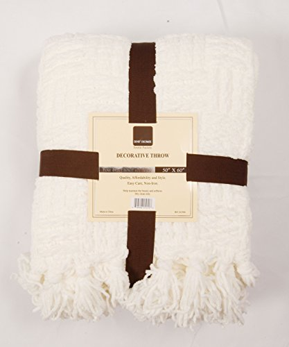 Home Soft Things Cable Knitted Throw Couch Cover Blanket 50 X 60 Antique White 0 1