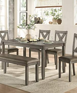 Homelegance 6 Piece Pack Dinette Set Gray 0 300x360