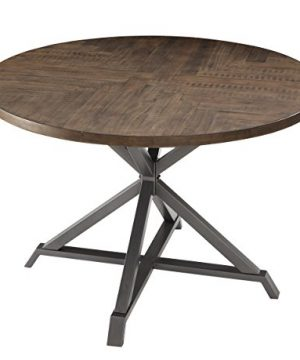 Homelegance Fideo 45 Round Industrial Style Dining Table Pine 0 300x360