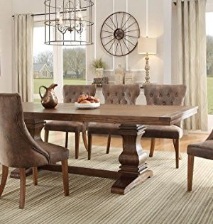 Homelegance Marie Louise 9 Piece Dining Room Set In Rustic Brown 0 300x316