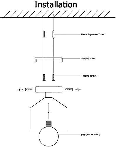 Industrial Ceiling Light Fixture Flush Mount Vintage Pendant Light Fixtures For Kitchen Farmhouse Hallway E26 Socket 0 2