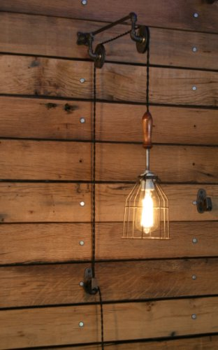 Industrial Wall SconcePulley Wall Light Pendant With Easy Height Adjustment To Get The Light Exactly Where You Want It 0 0