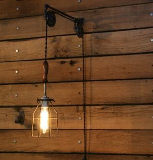 Industrial Wall SconcePulley Wall Light Pendant With Easy Height Adjustment To Get The Light Exactly Where You Want It 0 1 300x313