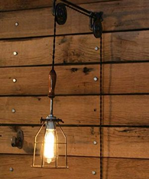Industrial Wall SconcePulley Wall Light Pendant With Easy Height Adjustment To Get The Light Exactly Where You Want It 0 2 300x360