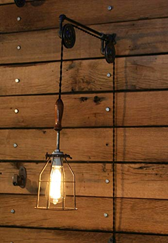Industrial Wall SconcePulley Wall Light Pendant With Easy Height Adjustment To Get The Light Exactly Where You Want It 0 2