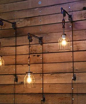 Industrial Wall SconcePulley Wall Light Pendant With Easy Height Adjustment To Get The Light Exactly Where You Want It 0 300x360