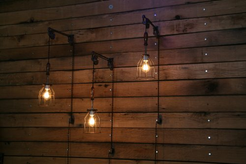Industrial Wall SconcePulley Wall Light Pendant With Easy Height Adjustment To Get The Light Exactly Where You Want It 0 4